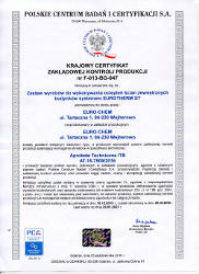 EURO-CHEM certyfikat EUROTHERM ST